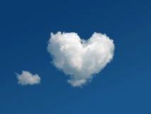 云彩心形的天空 免版税库存照片