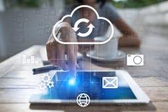 云彩技术 数据存储 网络和网路服务概念 库存图片