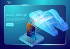云彩数据存储网页模板 抽象设计观念 等量传染媒介例证 图库摄影