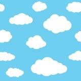 云彩无缝的样式背景 免版税库存照片