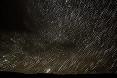 云彩星跟踪天空 库存图片