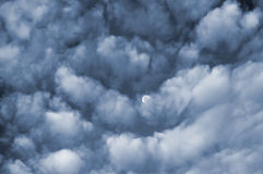 云彩月亮 图库摄影