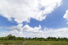 云彩有蓝天背景 库存图片