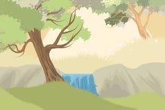 云彩森林自然风景 免版税库存图片