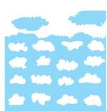 云彩汇集的传染媒介例证 库存照片