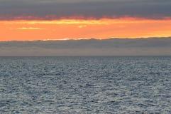 云彩海在海洋的 免版税库存图片