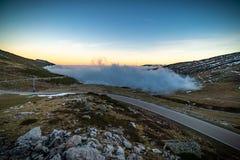 云彩海在西班牙的北部的 免版税图库摄影