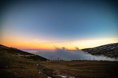云彩海在西班牙的北部的 免版税库存照片
