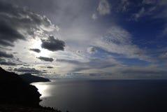 云彩海运光 库存照片