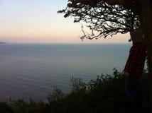云彩海洋天空视图水 免版税库存图片