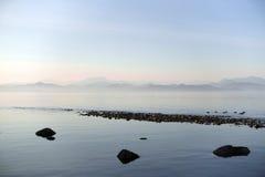 云彩海洋天空视图水 库存照片