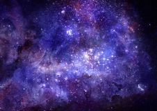 云彩深气体星云外层空间 库存例证