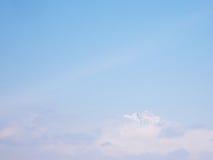 云彩的上面 免版税图库摄影