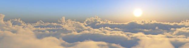 云彩的全景 库存图片