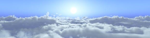 云彩的全景 库存照片