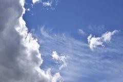云彩的形状 免版税库存照片