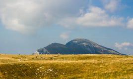 云彩的意大利阿尔卑斯 库存照片