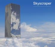 云彩的摩天大楼 免版税图库摄影