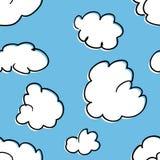 云彩的无缝的模式 免版税库存图片