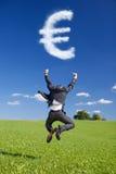 从云彩的欧洲标志 免版税库存照片