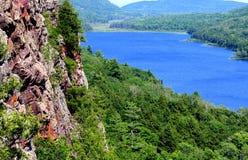 云彩的湖 图库摄影