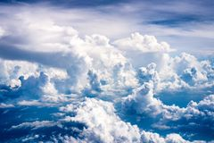 云彩的秀丽是丰富的 库存图片