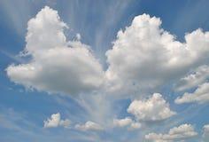 从云彩的重点 库存照片