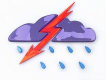 从云彩的闪电 向量例证