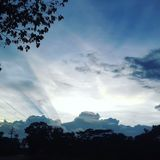 云彩的阴影 库存图片