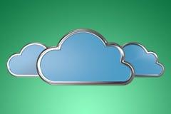 云彩的综合图象在白色背景塑造 库存照片