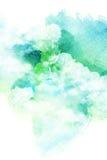 云彩的水彩例证 图库摄影