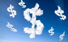 云彩美元的符号 库存照片