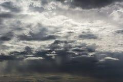 云彩背景积雨云形成 免版税图库摄影