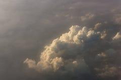 云彩背景鸟瞰图  免版税库存照片