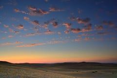 云彩被察觉的天空 库存图片