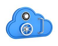 云彩被隔绝的存贮保险柜 向量例证