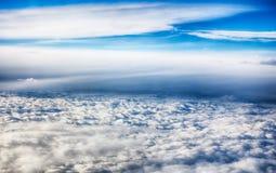 云彩视图从飞机视窗的。 免版税图库摄影