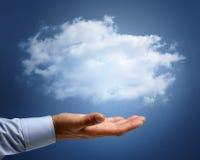 云彩计算或梦想和志向概念 库存照片