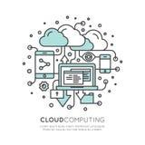 云彩计算技术,主持,云彩管理 免版税库存图片