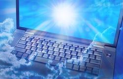 云彩计算机科技 图库摄影