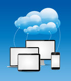 云彩计算的企业概念传染媒介 库存照片