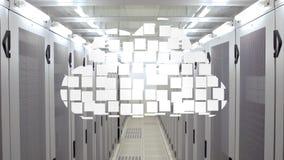 云彩计算的图表在数据中心 库存例证
