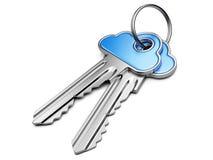 云彩计算的安全概念。 免版税库存图片