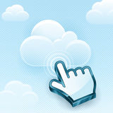 云彩计算的手游标 免版税库存照片