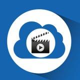 云彩计算的拍板影片媒介 库存照片