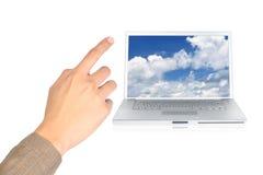 云彩计算的指点 图库摄影