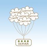 云彩计算的服务器摘要  库存图片