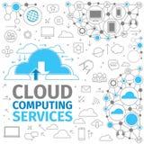 云彩计算的服务 库存图片