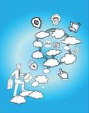 云彩计算的概念例证 免版税库存照片