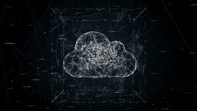 云彩计算的概念动画, 4K录影